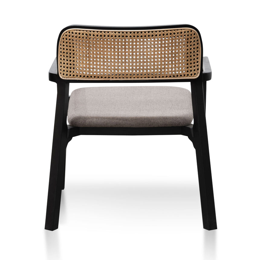 CLC6039-SD Fabric Armchair - Caramel Grey with Black Legs