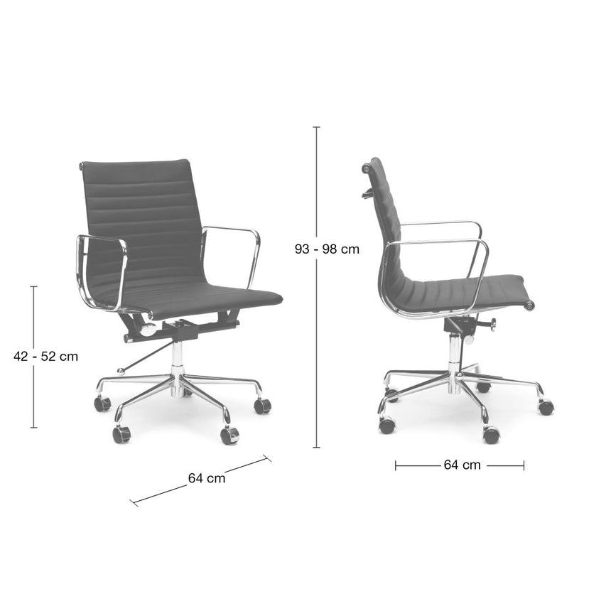 COC130W PU Leather Office Chair - White