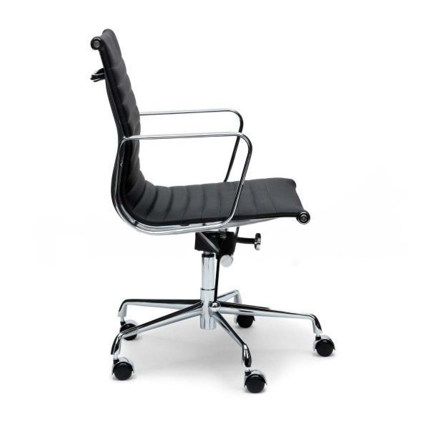 COC101  Leather Office Chair - Black