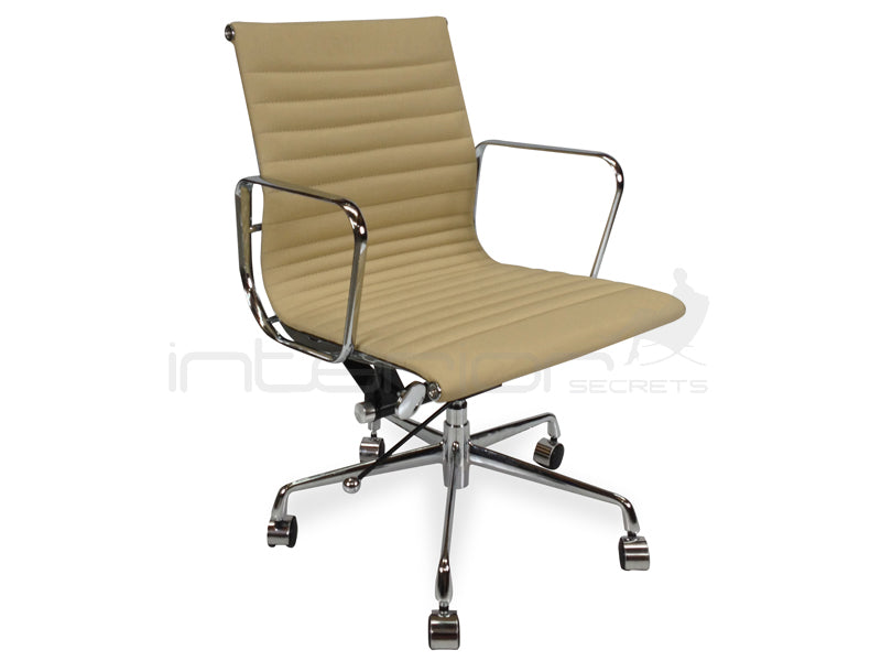 COC101B  Leather Office Chair - Light Brown