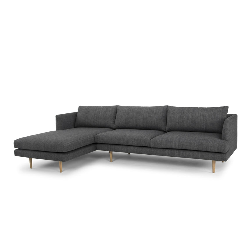 CLC764 3 Seater With Left Chaise - Metal Grey