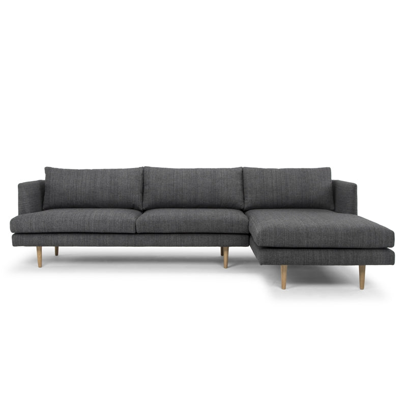 CLC768 3 Seater With Right Chaise - Metal Grey