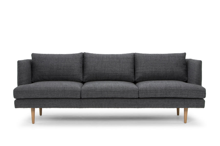 CLC767 3 Seater Fabric Sofa - Metal Grey