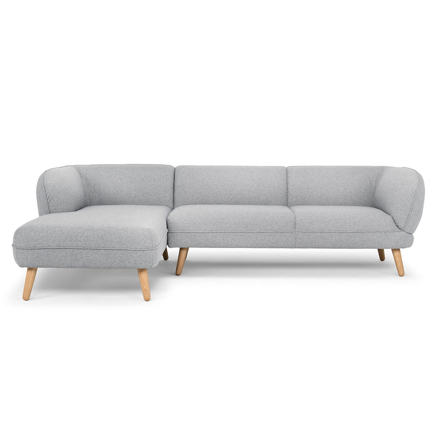 CLC2333 3 Seater Left Chaise Sofa - Light Grey