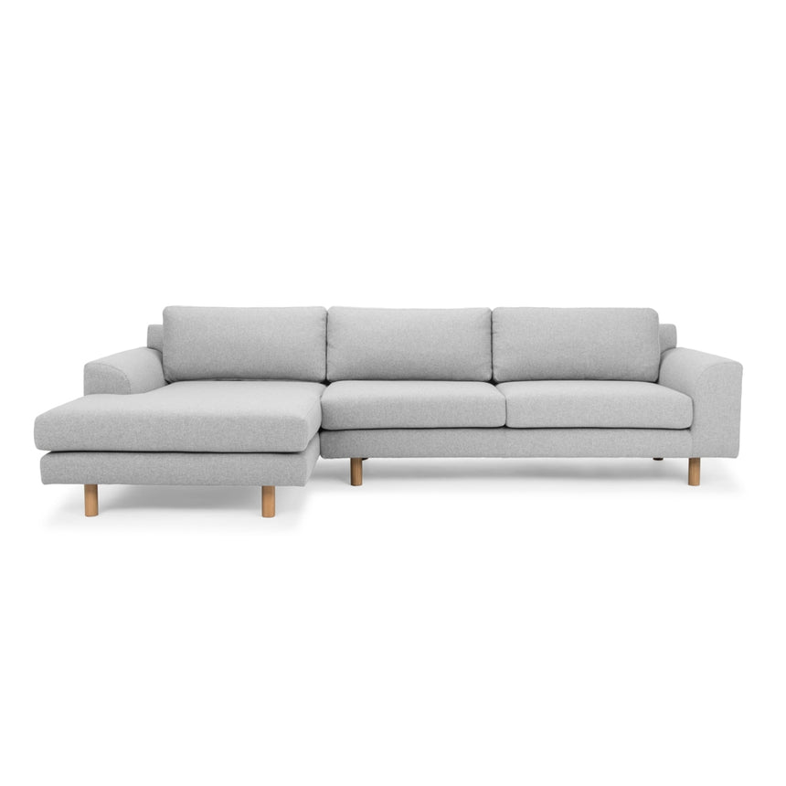 CLC2518-FA 3 Seater Left Chaise Sofa - Light Grey