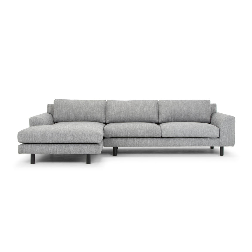 CLC2869-FA 3 Seater Left Chaise Sofa - Dark Grey with Black Legs