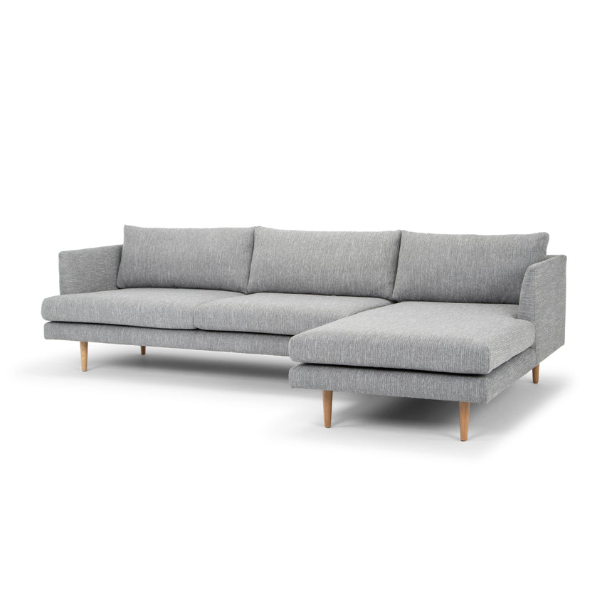 CLC2864-FA 3 Seater With Right Chaise Sofa - Graphite Grey with Natural Legs