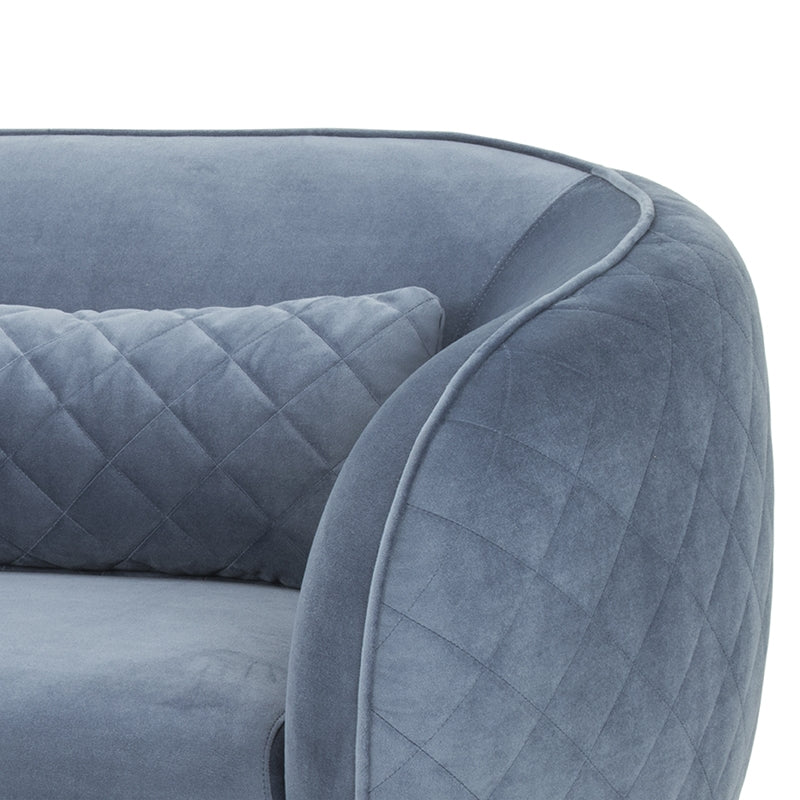 CLC807 3 Seater Velvet Sofa in Dust Blue