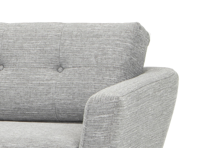 CLC2867-FA 3 Seater Fabric Sofa - Dark Grey