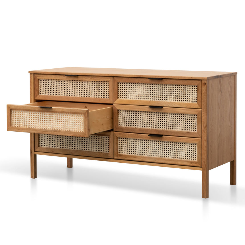 CDT6143-CU Wooden 6 Drawer Chest  - Natural
