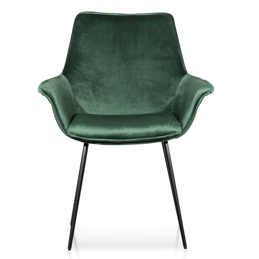 CDC6210-SE Dining Chair - Dark Green Velvet (Set of 2)
