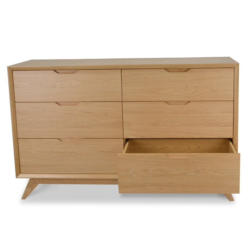 CDT1057-VN 6 Drawer Wide Chest - Natural