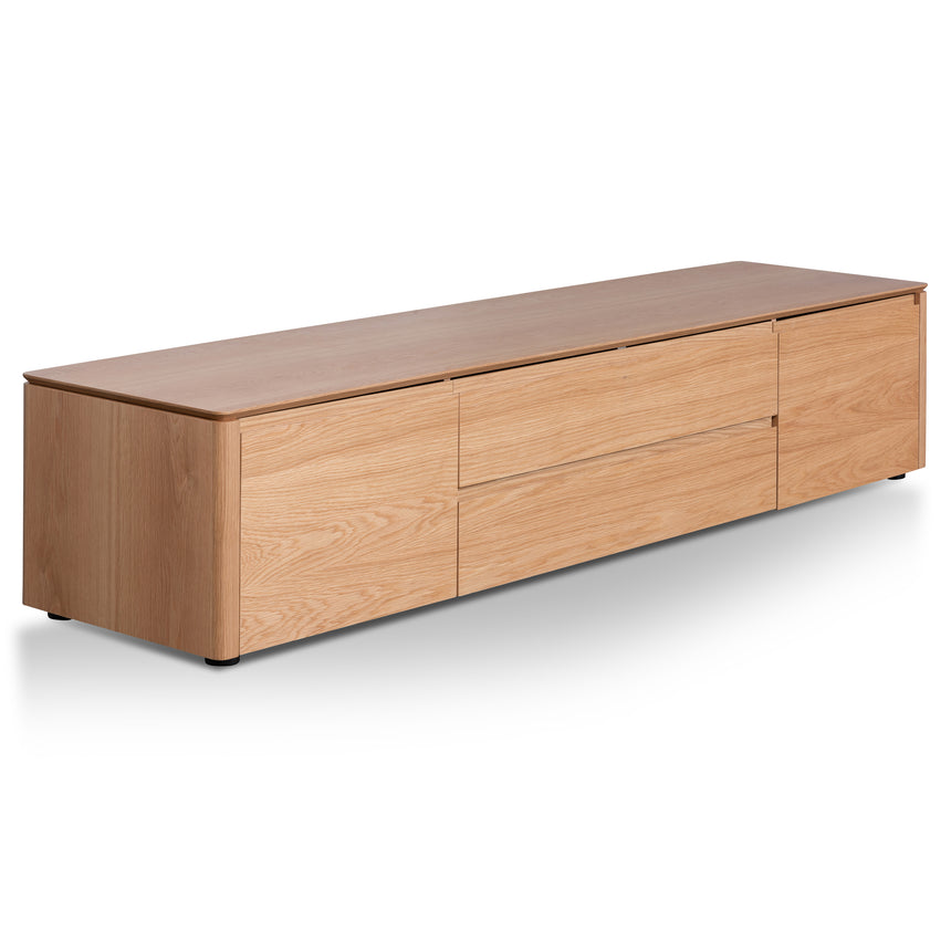 CTV6201-CN TV Entertainment Unit with Middle Drawer - Natural Oak