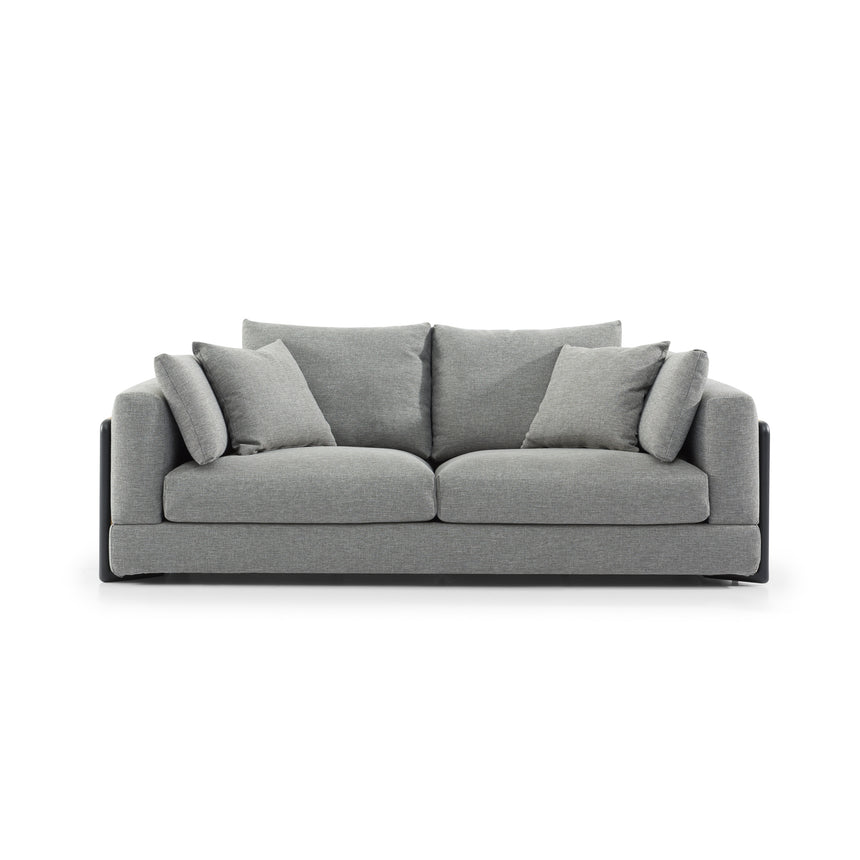 CLC2827-SKS 3 Seater Sofa with 2 Rubber Wood Armrest - Graphite Grey