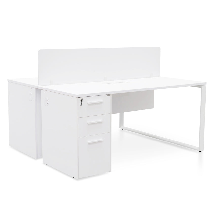 COF2432-SN-OF2524-SN 4 Seater Workstation - Natural - White