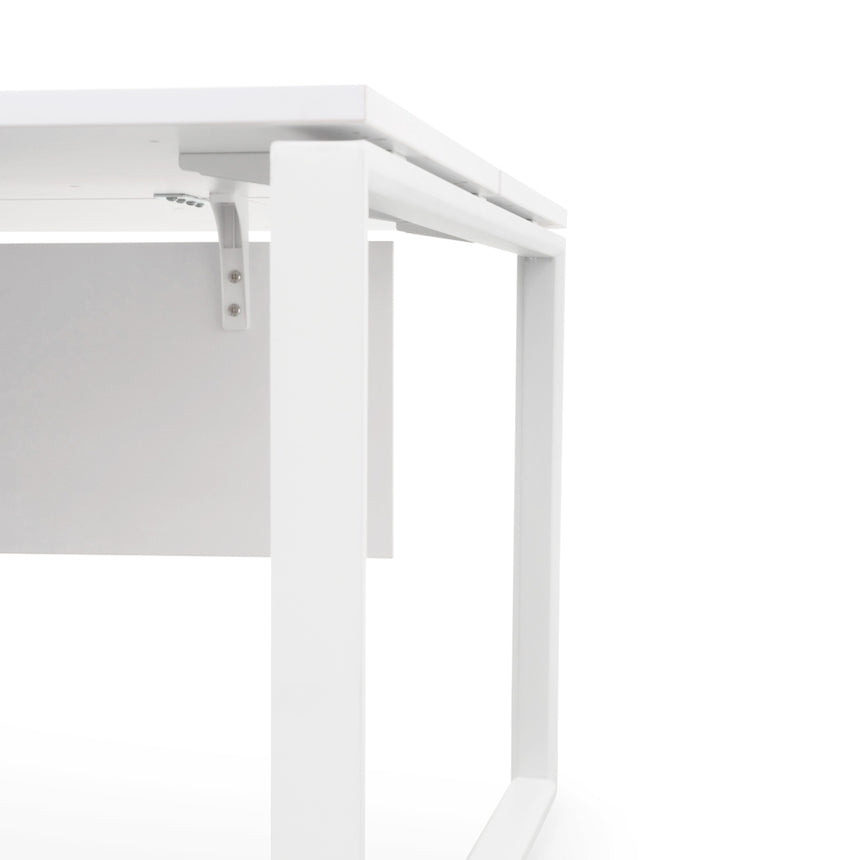 COT092-SN 2 Seater 160cm Office Desk  With Privacy Screen - White - Upgraded Legs