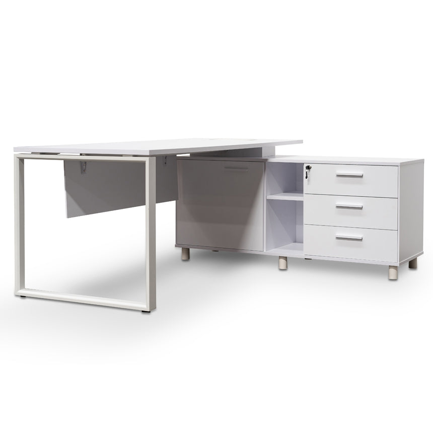 COT2347-SN 180cm Executive Office Desk Right Return - White