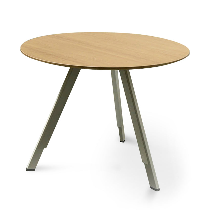 COT2498-SN Round Office Meeting Table - Natural
