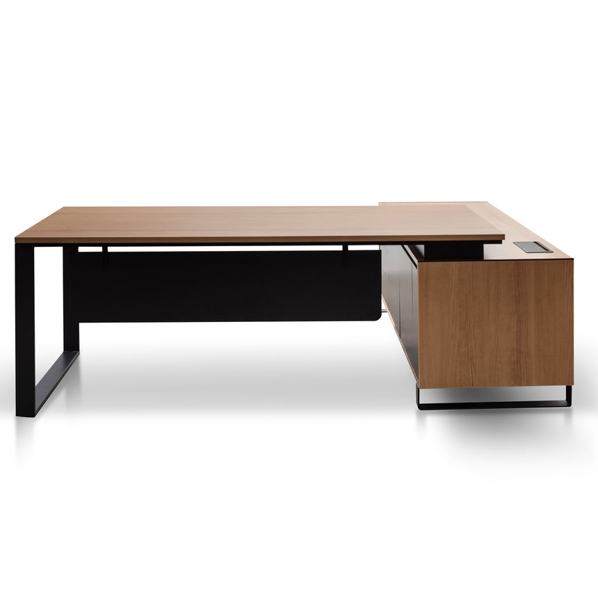 COT6107-SN - 2.3m Left Return Office Desk - Natural