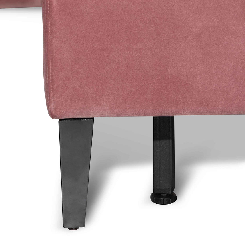 CBD6281-MI King Bed Frame - Blush Peach Velvet