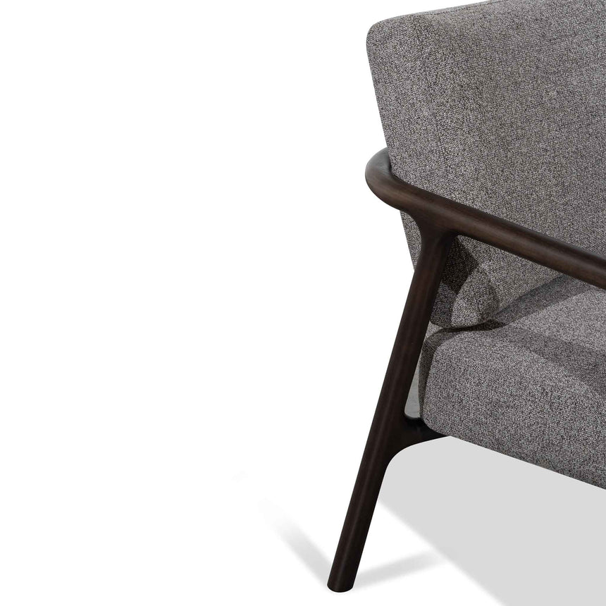 CLC6174-SKS Fabric Armchair - Rock Grey with Black Legs