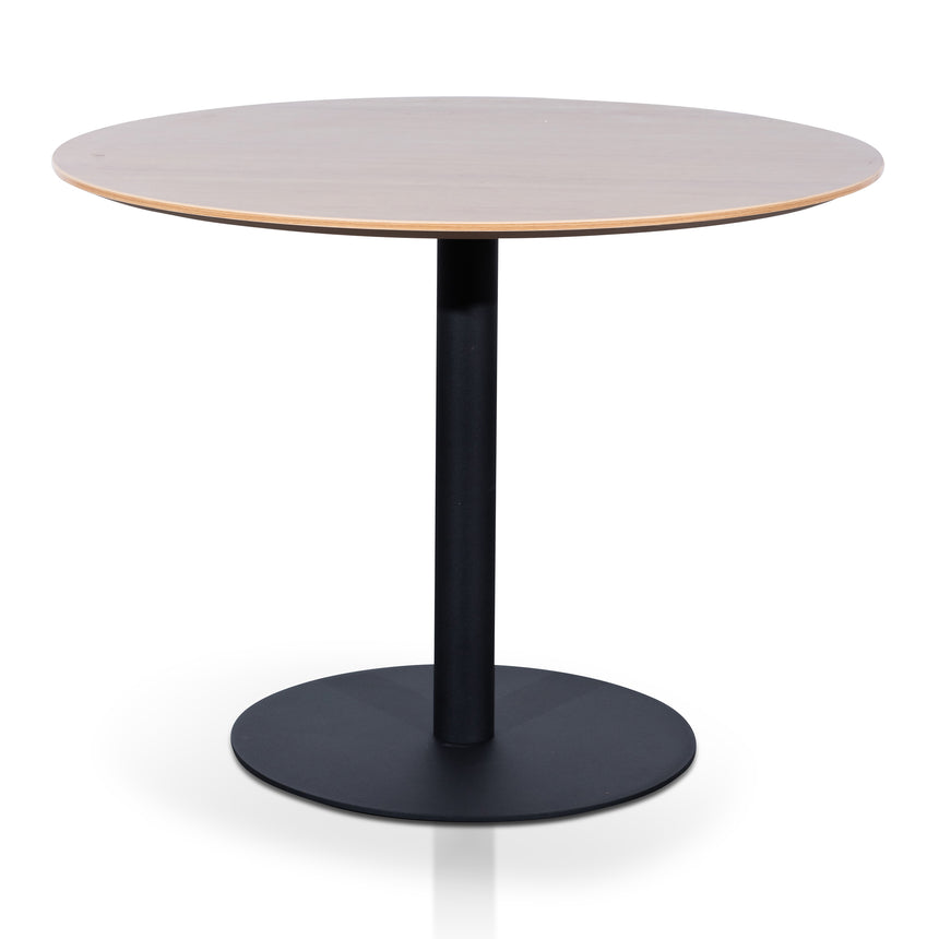 COT6644-SN Round Office Meeting Table - Natural with Black Base
