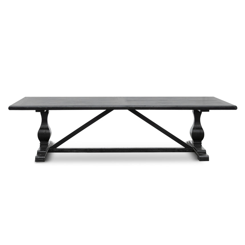 CDT6066 3m Reclaimed Dining Table - Black- 120cm (W) - Thick Top