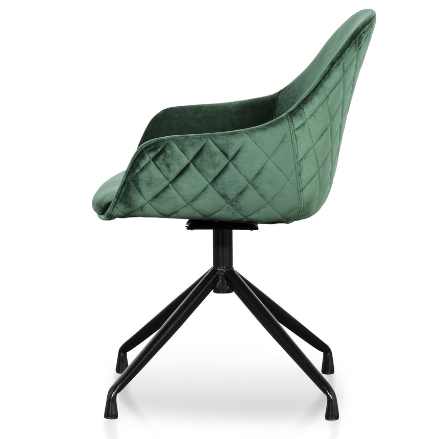 COC6212-SE Velvet Visitor Chair - Dark Green