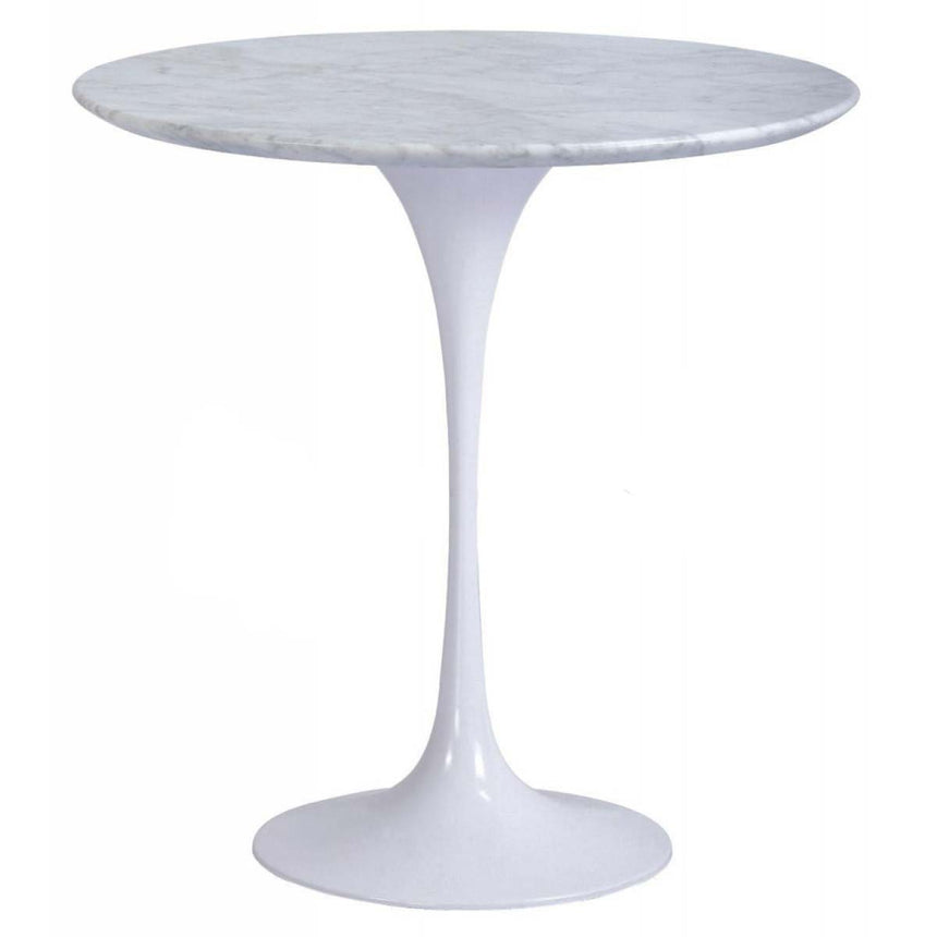 CDT110A Table 50cm - Marble Top - Aluminium