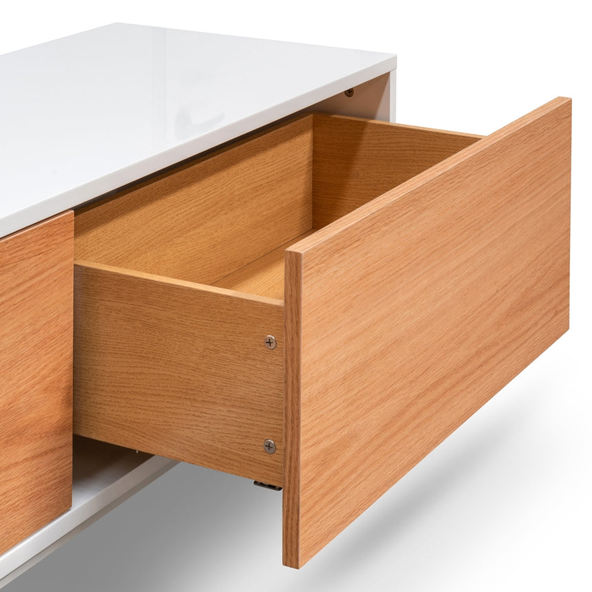 CTV2262-BB 2m Entertainment TV Unit - White - Natural