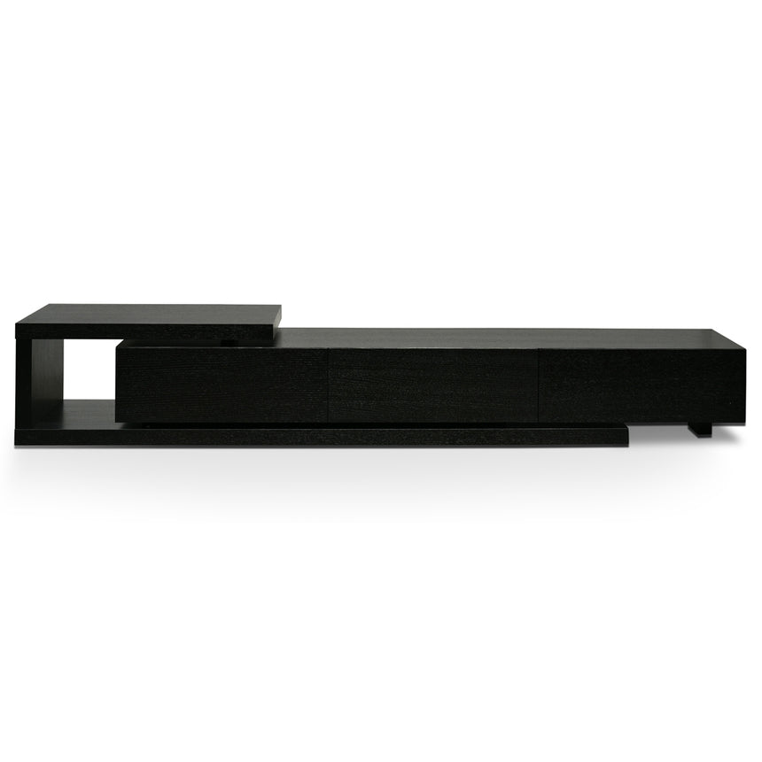 CTV2390-BB Scandinavian Lowline 2.4-3.07m Entertainment TV Unit - Full Black