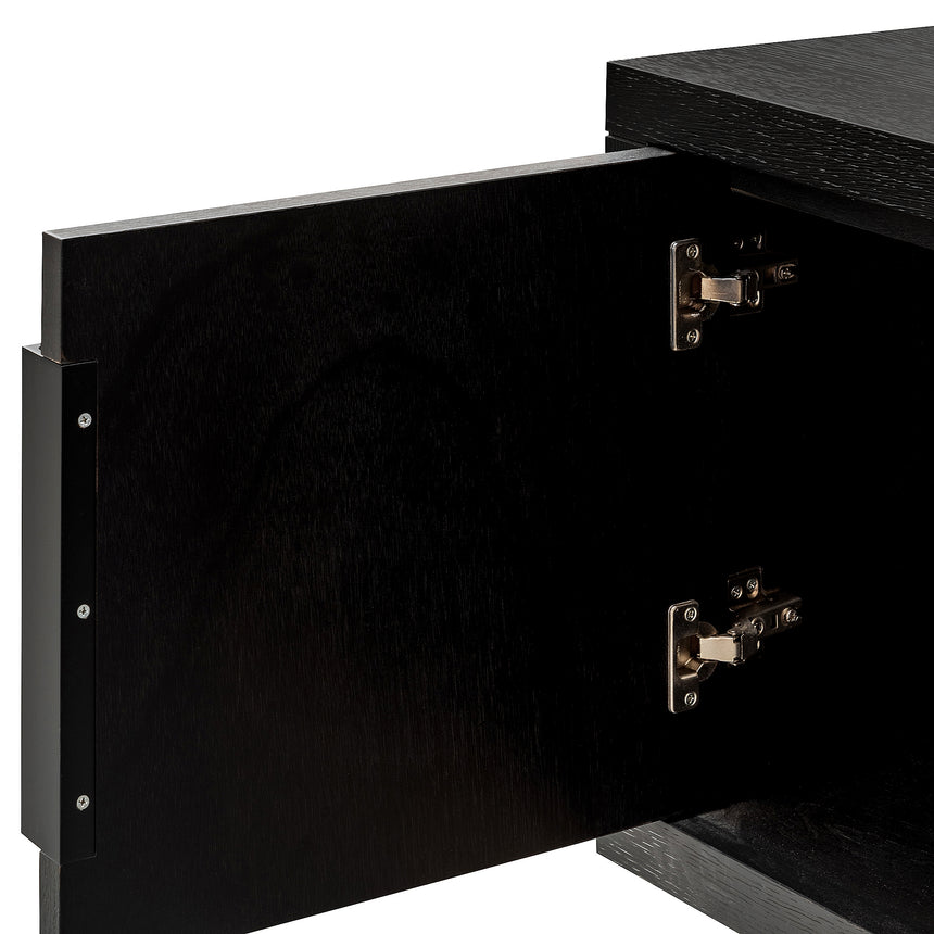 CTV2911-VA 1.8m Entertainment TV Unit - Textured Ebony Black