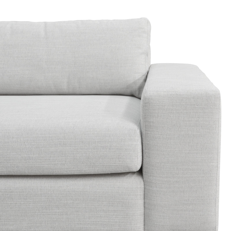 CLC802 3 Seater Sofa With Chaise - Light Texture Grey