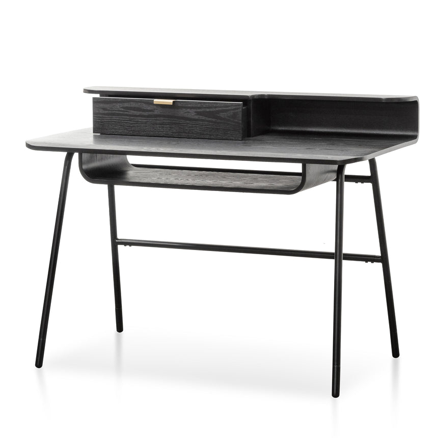 COF6229-DR Wooden Home Office Desk - Black
