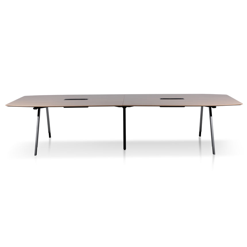 COT6168-SN 3.6m Natural Boardroom Meeting Table - Black Legs