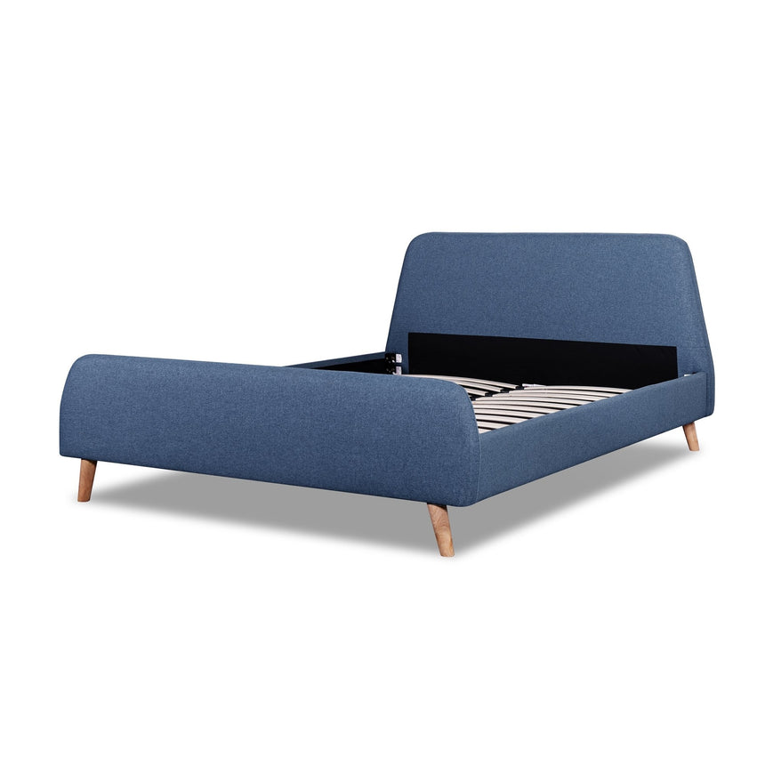 CBD6009-YO - Queen Bed Frame in a Yale blue fabric