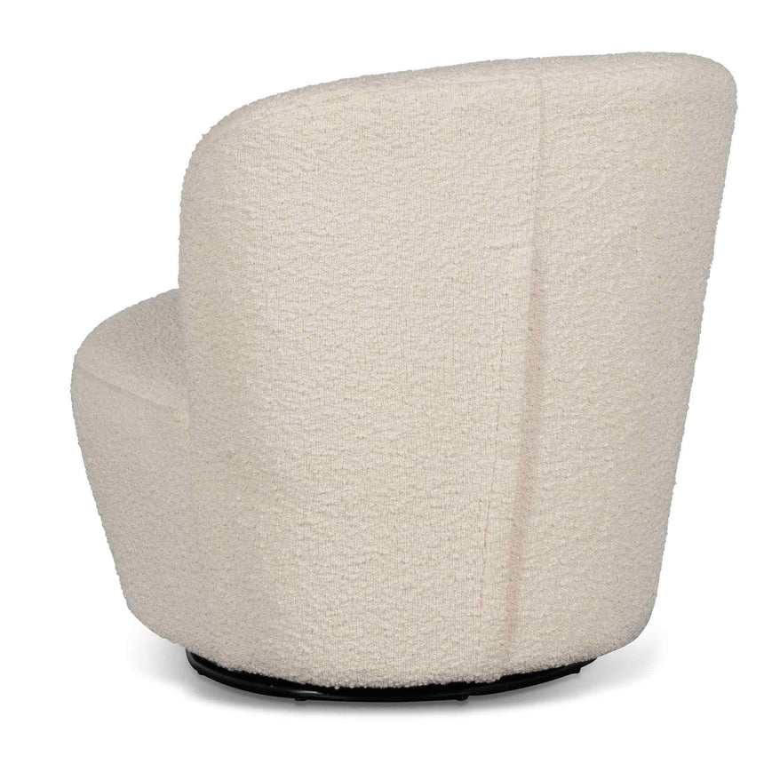 CLC6402-CA Swivel Lounge Chair - White Synthetic Wool