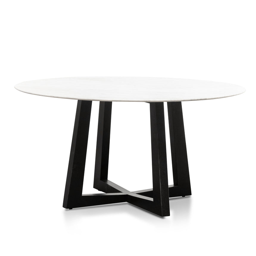 CDT6214-SD 1.5m Round Marble Dining Table - Black