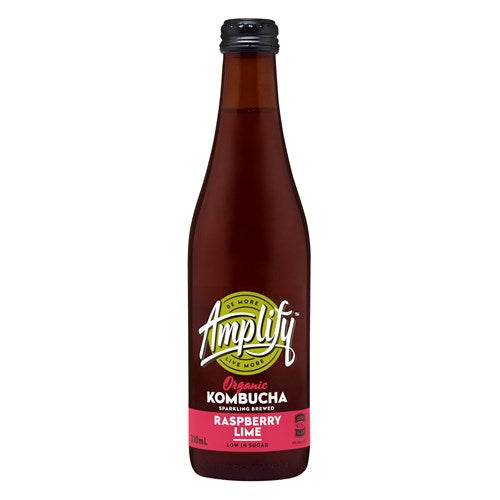Amplify Kombucha Raspberry and Lime 330ml
