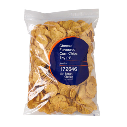 Corn Chips Cheese Smart Choice 1 KG