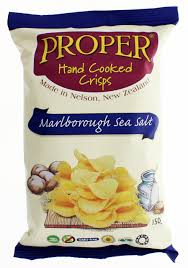 Crisps Proper Hand Cooked Sea Salt 140 gm