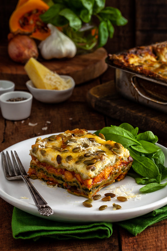Lasagne 6 x 300 gm Pumpkin, Feta and Spinach Pasta Vera Frozen