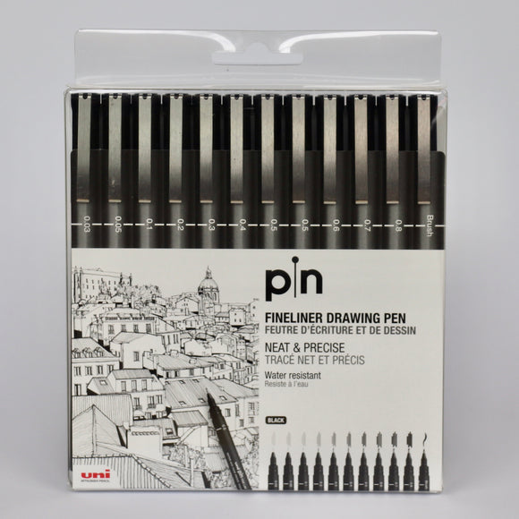 Uni pin pen set of 12