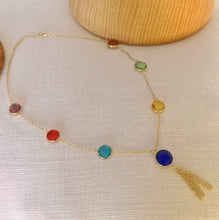 Load image into Gallery viewer, Multicolor crystal  necklace