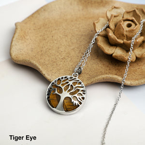 Tree of life Stone  Necklace Pendant