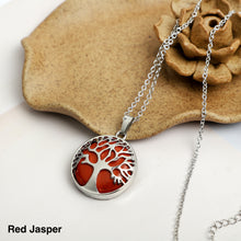Load image into Gallery viewer, Tree of life Stone  Necklace Pendant
