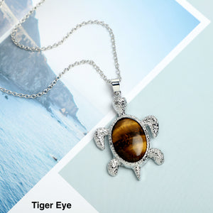 Tortoise Stone  Necklace