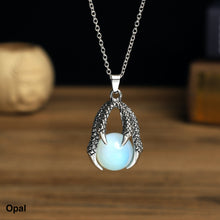 Load image into Gallery viewer, Dragon Claw with  stone ball Necklace