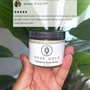 Rose Gold Hydrating Body Butter | Eczema Treatment | Holy Raw Skin Care | Review