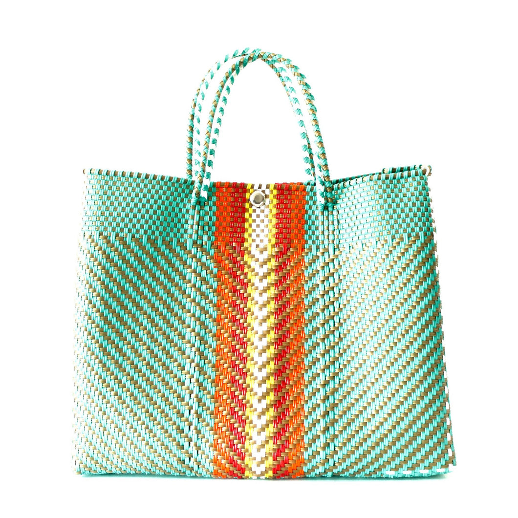 Mercado Large Beach Bag Turquoise